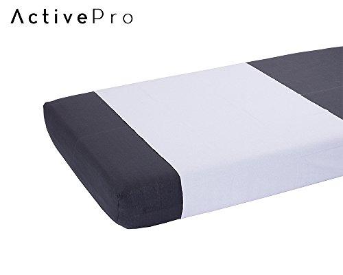 Inkontinenz Spannbettlaken 90x170 cm | Spannbetttuch Jersey/PU| Waschbarer Matratzenschutz mit PU-Beschichtung | Bettschutz von ActivePro