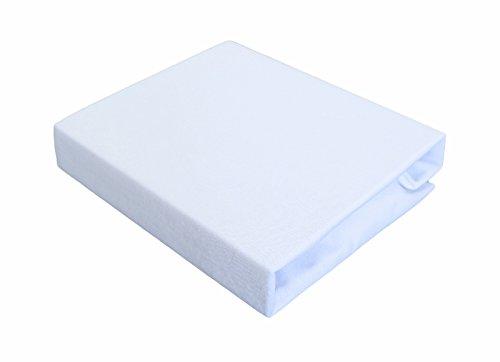 TM MAXX Qualität Baby Kinder Jersey Spannbettlaken 60x120-70x140 mit Öko-Tex Standart (80x160, weiß 001)