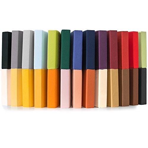 CelinaTex Jersey Spannbettlaken 180x200-200x220 cm für Boxspringbetten, Wasserbetten und herkömmliche Matratzen, Spannbetttuch 100% Mako-Baumwolle Qualität Relax 0001927 bordeaux rot