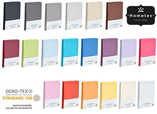 Home-Tex© Spannbettlaken Spannbetttuch bis 25 cm Steghöhe   Bettlaken Jersey aus 100% Baumwolle   90-100x200 cm Weiß   ÖKO-TEX STANDARD   Viele Größen und Farben erhältlich