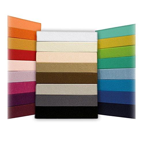 Jersey Spannbettlaken Leintuch Spannbetttuch - in allen Farben und Größen - 100% Baumwolle apfelgrün/hellgrün 180-200 x 200 cm
