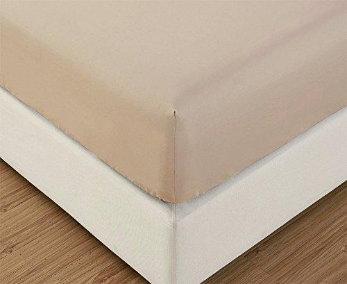 Jersey Spannbettlaken | 140x200 - 160x200 cm | Creme | 100% Baumwolle | klassisches Spannbetttuch für Standardmatratzen | OEKO-TEX®