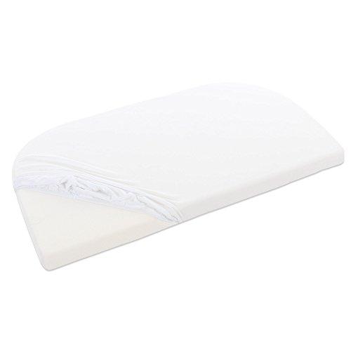 babybay Jersey Spannbetttuch für Maxi, Midi, Mini, Boxspring, Trend und Comfort, weiß