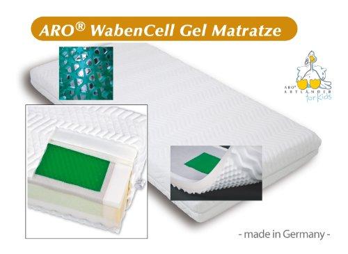 ARO Artländer 9213350 Waben Cell-Gel Matratze (Baboo Bezug) 60 x 120 cm
