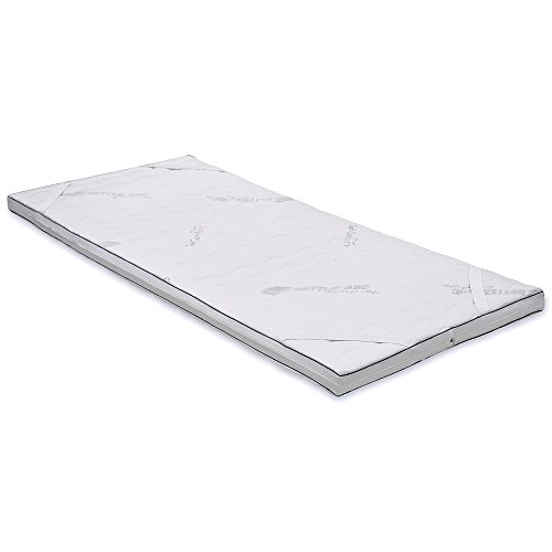 Betten-ABC MaGeTo-2000, Gelschaumtopper, Gesamthöhe 7 cm, Kernhöhe 5 cm, waschbarer Bezug, Größe 90 x 200 cm