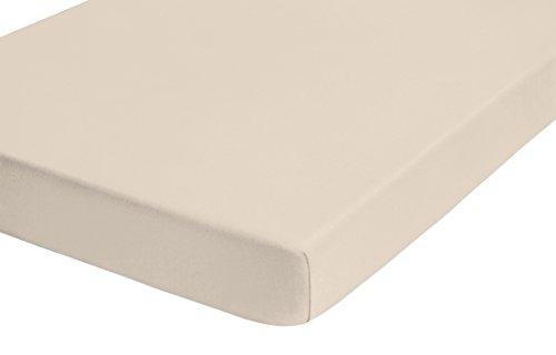 Castell 77113/547/040 Jersey-Stretch Spannbetttuch(nach Öko-Tex Standard 100, ca. 90 x 190 cm bis 100 x 200 cm, kitt