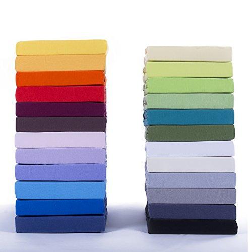 Etérea Jersey Spannbettlaken Spannbetttuch in vielen unterschiedlichen Farben