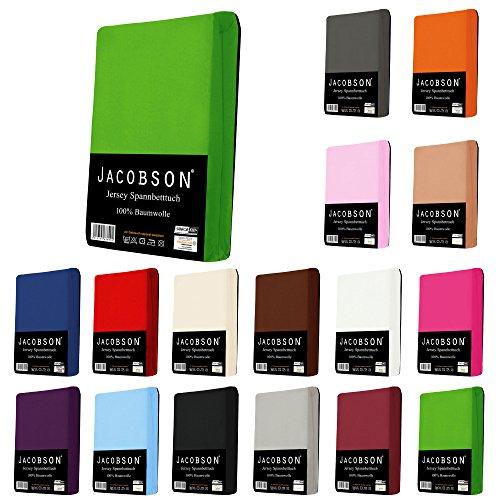 jacobson jersey spannbettlaken spannbetttuch baumwolle bettlaken matratzen online shop. Black Bedroom Furniture Sets. Home Design Ideas
