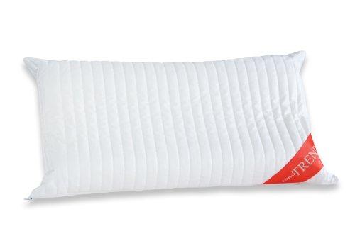 Badenia 037771842108 Bettcomfort Premium Nackenstützkissen Trendline, passend für Bezüge 40 x 80 cm, weiß