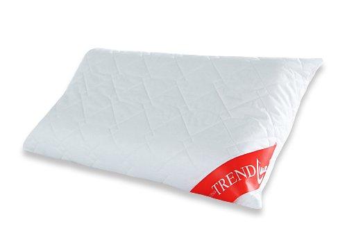 Badenia Bettcomfort Trendline Visco Noblesse Nackenstützkissen, passend für Bezüge, 40 x 80 cm, weiß