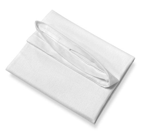 SETEX Antiallergen Schonbezug für Kissen, 100% Baumwolle, Weiß, Allergo, 14AG