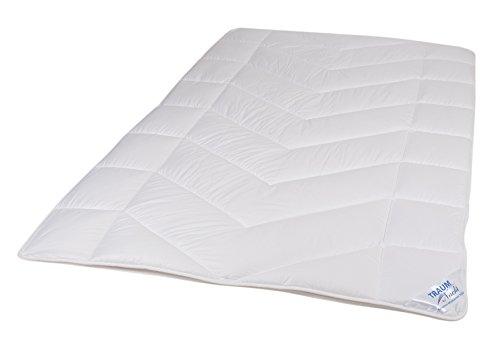 Traumnacht 03831361149 5-Star, kuschelig warme Bettdecke aus reinem Baumwolle-Satin, waschbar, weiß