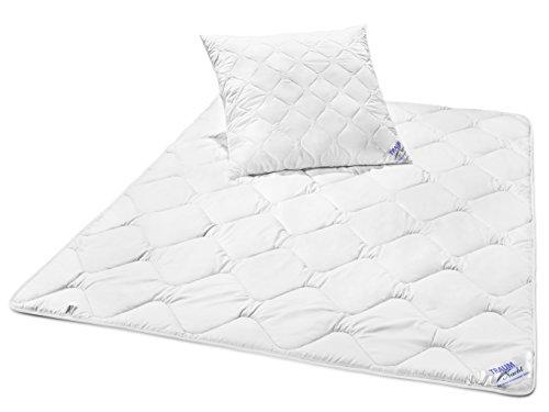 Traumnacht 03831495140 3-Star Bettenset Leicht, 1 x Bettdecke und 1 x Kopfkissen 80 x 80 cm, weiß
