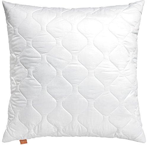 sleepling 190013-P Basic 300 Kopfkissen Baumwolle Satin, Weiß