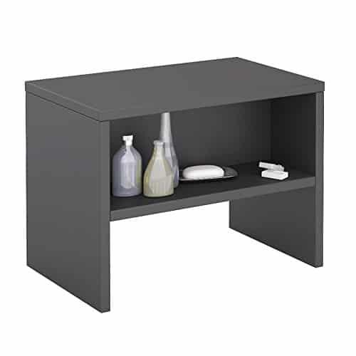 CARO-Möbel Nachttisch Ney Nachtschrank Beistelltisch mit Offenem Fach in Anthrazit Grau