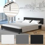 Homelux PU Bett Polsterbett Doppelbett Kunstlederbett Bettgestell Bettrahmen Verschiedene Farben und Größen