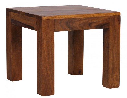 Beistelltisch, Couchtisch BZW. Wohnzimmertisch aus Massivholz Sheesham; Maße (B/T/H) in cm: 45 x 45 x 40