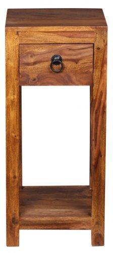 Konsolentisch, Telefontisch, Beistelltisch bzw. Nachtkonsole aus Sheesham Massivholz; Maße (B/T/H) in cm: 30 x 30 x 68