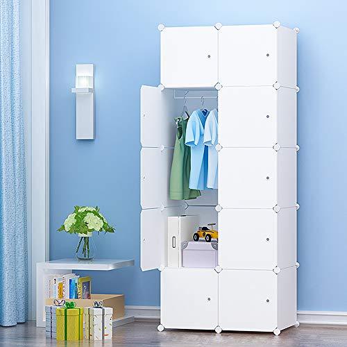 PREMAG Portable Garderobe für hängende Kleidung, Kombischrank, modulare Schrank für platzsparende, ideale Storage Organizer Cube für Bücher, Spielzeug, Handtücher