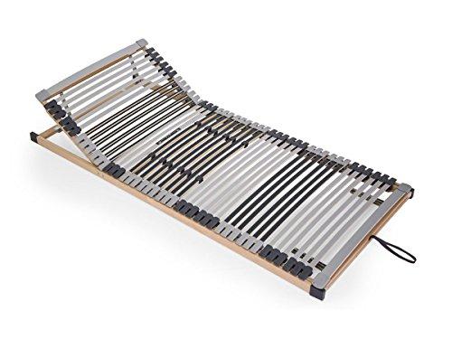 Amethyst 7 Zonen Lattenrost Kopf- und Fußteil verstellbar TÜV Zertifiziert aus Stabiler Buche 44 Federleisten 140x200, montierte Lieferung, 140 x 200 cm, verstellbar