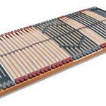 FMP Matratzenmanufaktur 7 Zonen Lattenrost Rhodos NV 44 Leisten Triokautschukkappen, Mittelgurt, Querholme 100% BUCHE massiv Lattenroste in verschiedenen Größen