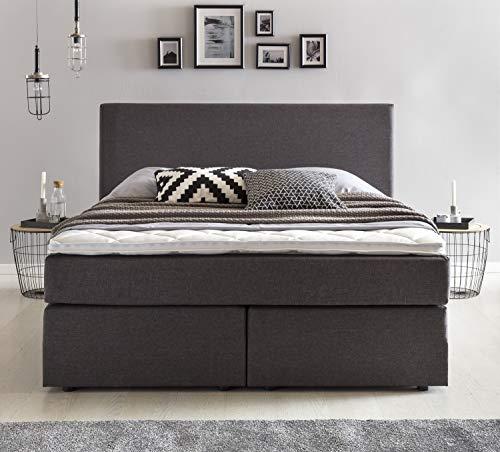 Furniture for Friends Boxspringbett Benno inkl. Komfortschaum Topper Bonellfederkern-Matratze Hotelbett Doppelbett Polsterbett