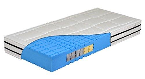 DaMi Wohn- und Schlafsysteme 7 Zonen Kaltschaum Matratze Cube Premium - speziell für Seitenschläfer - Raumgewicht 60 !! H3 = fest